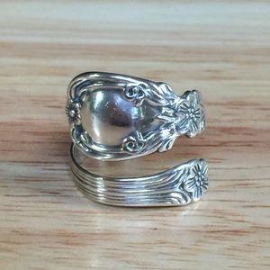 Antique Silver Spoon Wrap Ring